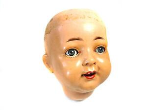 "Antique celluloid head, turtle mark, K&R 721, doll size 62 cm, 24.5"", very rare"