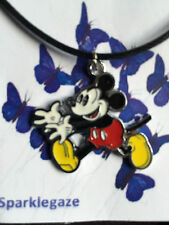 BRAND NEW 2017 DISNEY MICKEY HANDS OUT RUN FAUX BLACK NECKLACE GIFT CHRISTMAS 77