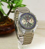 Poljot 3133 RARE black dial USSR men's military air force wristwatch chronograph