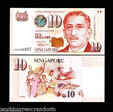 SINGAPORE 10 DOLLAR P48 2004 LHL PM SIGN UNC MAS SCOUT TENNIS SOCCER PAPER MONEY