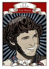Guy Martin - Isle Of Man Tt Races Legends A4 Artwork - Classic Motor Racing Art