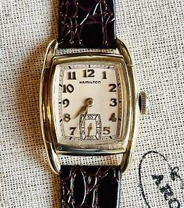 "1938/39 Hamilton Early Grade 987A, ""Dodson"" 17J in 10k GF Case. Runs/Looks Nice!"