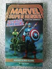 More details for marvel adventure game book captain america rocket's red glare (1986) kate novak