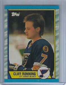 1989-90 Topps #45 Cliff Ronning Rookie Card