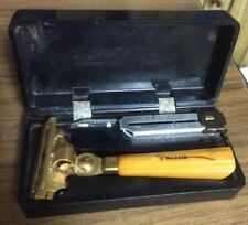 Vintage Type E 1940's Schick Injector Safety Razor Commemorative w/ box and key