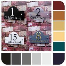 House Sign Name Address Plaque 'Bridge' shape Door Number Plates Property Name