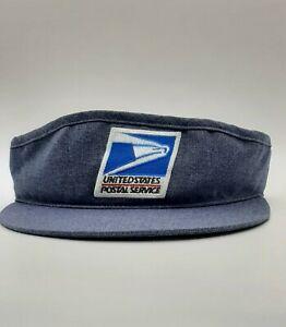 Vintage USPS Sun Visor Hat Snapback Made In USA EUC