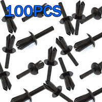 100X Plastic Push Fit Rivet Bumpers/Interior Trim Panel Clip For BMW E12 E28 E30