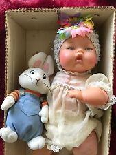 """14"""" 1960's  Ideal Tiny Thumbelina Doll & Box. Works!"""