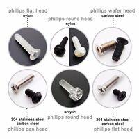50pcs Metric Thread M1.2-M4 Mini Phillips Pan Flat Countersunk Head Screw Bolt