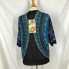 Desigual by LaCroix Open Front Jacket Sz 38 New with tags USA 4 Kimono Sleeve