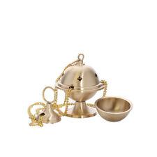 Brass hanging resin censer incense burner clergy handmade thurible polished 1545