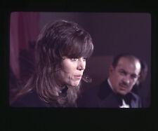 JANE FONDA ORIGINAL 35MM SLIDE TRANSPARENCY VINTAGE PRESS CONFERENCE