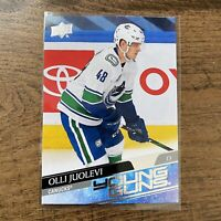 20/21 UD Series 1 Young Guns Olli Juolevi Vancouver Canucks Rookie Card
