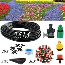 82Ft Micro Drip Irrigation System Sprinkler Plant Watering Hose Garden Tool Kit