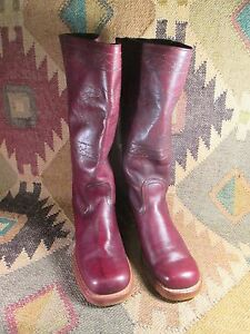Vintage Campus Fashion Boots Sz 8.5 M Square Toe Soft Supple Leather MADE IN USA