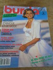 MAGAZINE BURDA JOLI MOIS DE MAI MARIAGE FEMINITE ET RAFFINEMENT MAI 1992