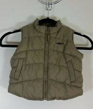 NEXT Boys Baby Gilet Size Age 9 to 12 Months Waistcoat Padded Casual Khaki Green