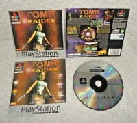 Tomb Raider Platinum PS1 Game DISC, MANUAL & INSERTS ONLY