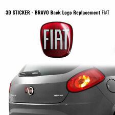 Adesivo Fiat 3D Ricambio Logo per Bravo Posteriore