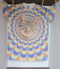 Tie-Dye Crazy Cat Lady Psychedelic T Shirt Small S Unique Original Nice Look