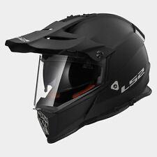 M Medium LS2 Pioneer Adventure Motorbike Helmet Matt Black
