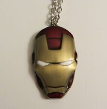 """MARVEL COMICS IRON MAN HELM PENDANT NECKLACE WITH 24"""" CHAIN NEW"""