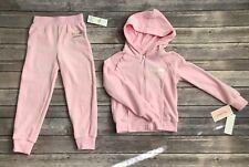 Juicy Couture Girls Velour Set Jacket Pants Pink Tracksuit Sweatsuit Size 4