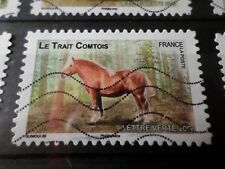 FRANCE 2013, timbre  AUTOADHESIF 818 CHEVAL COMTOIS HORSE oblitéré, VF STAMP