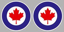 2 x COCARDE CANADA AIR FORCE WW2 AVION 5cm AUTOCOLLANT STICKER CA113
