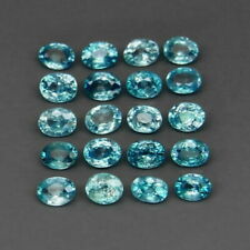 5.37 TCW 20pcs Natural Blue ZIRCON for Jewelry Setting Oval Cut 4x3mm