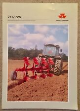 MF Massey Ferguson 725 / 715 Plough Sales Brochure Leaflet (Ford Deere Case JCB)