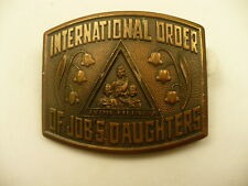 "Jobs Daughtersbelt  buckle IOJD JDI logo lily of the valley 2"" X 1.5"