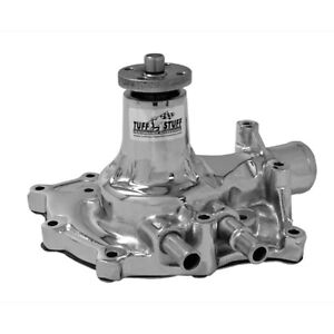 Tuff Stuff Water Pump 1432B; SuperCool Chrome Cast Iron for Ford 302/351W SBF