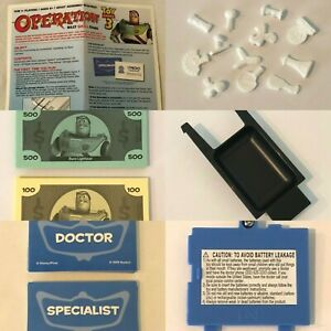 Operation Toy Story 3 Board Game Replacement Parts Pieces Choice Money Cards