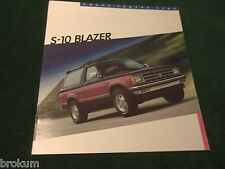 MINT CHEVROLET 1986 CHEVY S-10 BLAZER SALES BROCHURE TAHOE NEW (BOX 549)