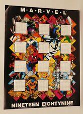 MARVEL 1989 CALENDAR POSTER 31.5 x 24