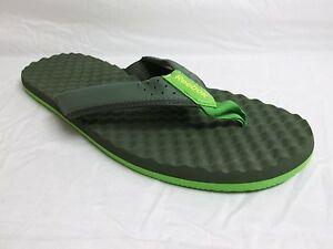 Reebok Size 13 M Splash Topia 2.0 Green Flip Flops Sandals New Mens Shoes NWOB