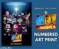 TEEN TITANS GO! To The Movies LIMITED NUMBERED Regal POSTER Print 13x19