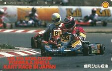 RARE / CARTE TELEPHONIQUE JAPAN - KART RACING KARTING RACE F1 SHELL / PHONECARD