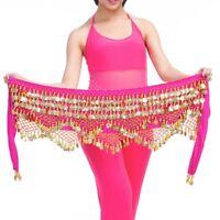 Belly Dance Hip Scarf Dancing Performance Skirt Wrap Belt Coins Decor Costume