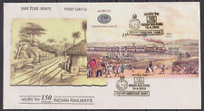 INDIA - 2002 150yrs OF INDIAN RAILWAY - M/S - FDC