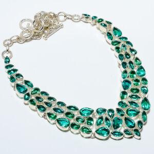 "Brazilian Blue Tourmaline 925 Sterling Silver Jewelry Necklace 17.99"" N912-10"