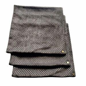 "Set 3 West Elm Honeycomb Velvet Pillow Cover 18"" Charcoal Gray Metallic Stitch"