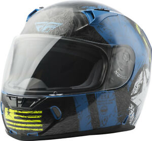 Fly Racing Revolt FS Full Face Street Motorycle Helmet Snell DOT Approved