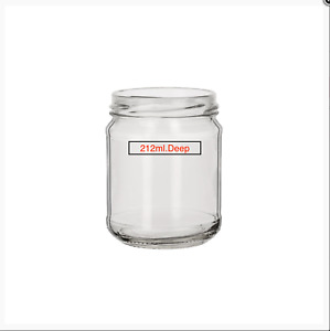 GLASS JARS 20x 212ml. FOR JAM,PRESERVE, CHUTNEY, CRAFTS, CANDLE,WEDDINGS,PICKLE