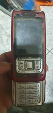 Nokia E65 - Red (Unlocked) Smartphone used for parts