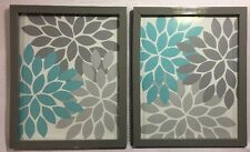 Silver Picture Frames 8 X 10 With Floral Prints Quantity 2