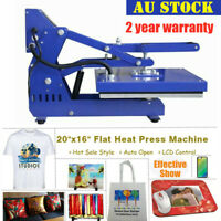 AU 16x20in Clamshell Auto Open Heat Press Machine T-Shirt Heat Transfer with LCD