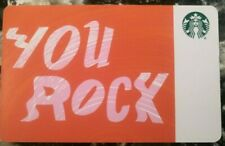 *STARBUCKS* 2017 Card - NEW Never Been Used 'You Rock' Series 6153           (S)